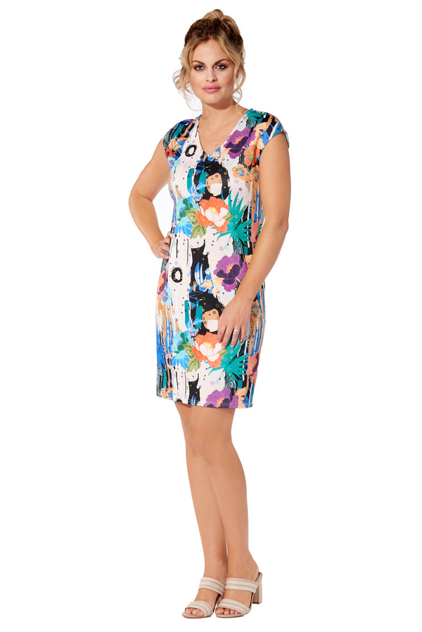 Panama Scuba Printed Dress