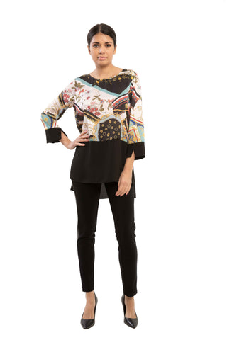 Skyler - 9710 - Skarf and Chains Print Tunic