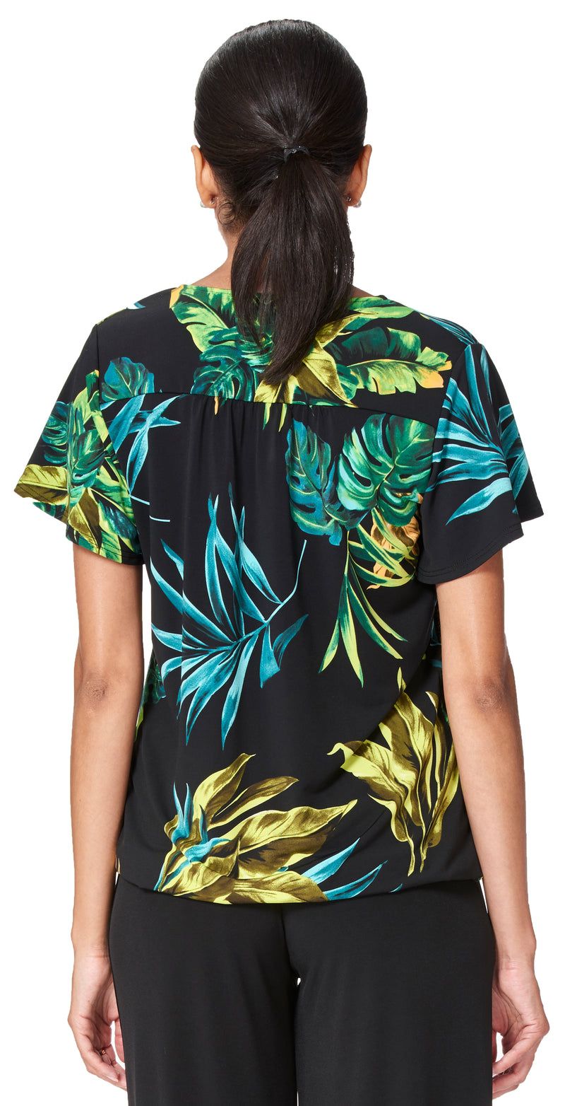 Jungle Short Flutter Sleeve Top