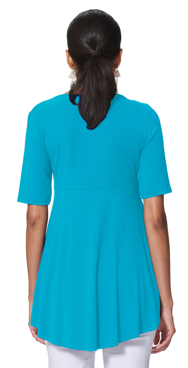 Candice Elbow Sleeve V-Neck Tunic