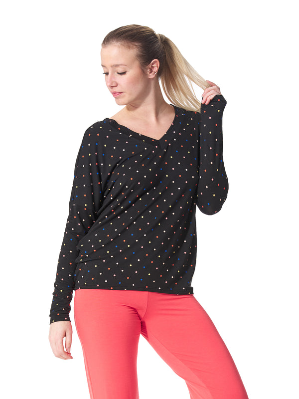 Viva Polka Dot Loungewear Top