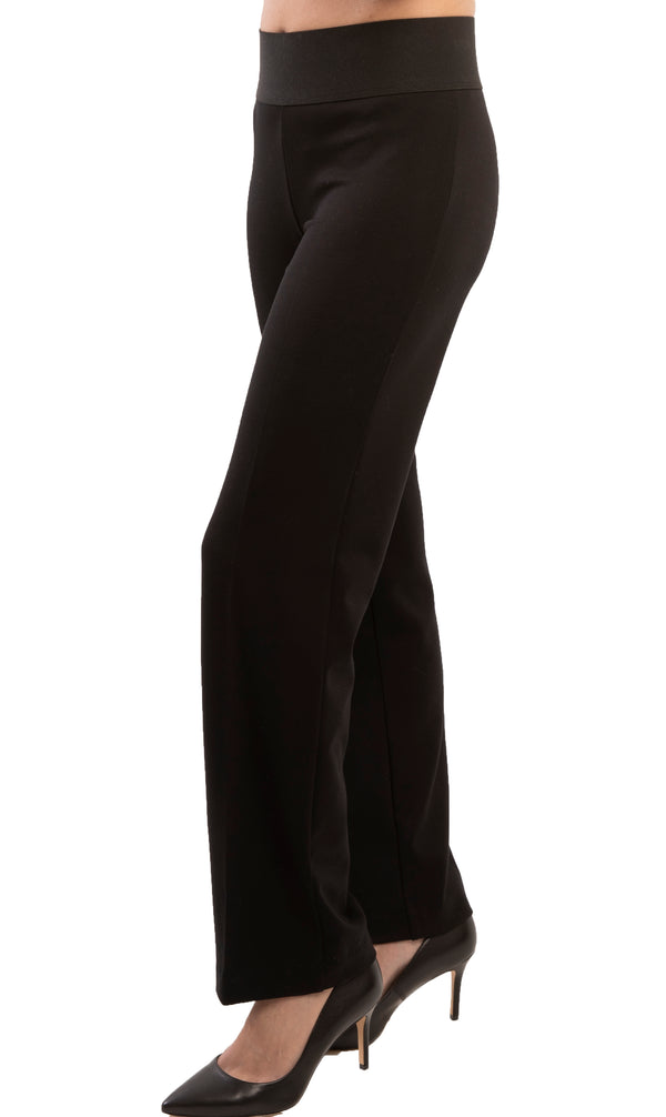 Wide Leg Pant - 4417- Solid Black