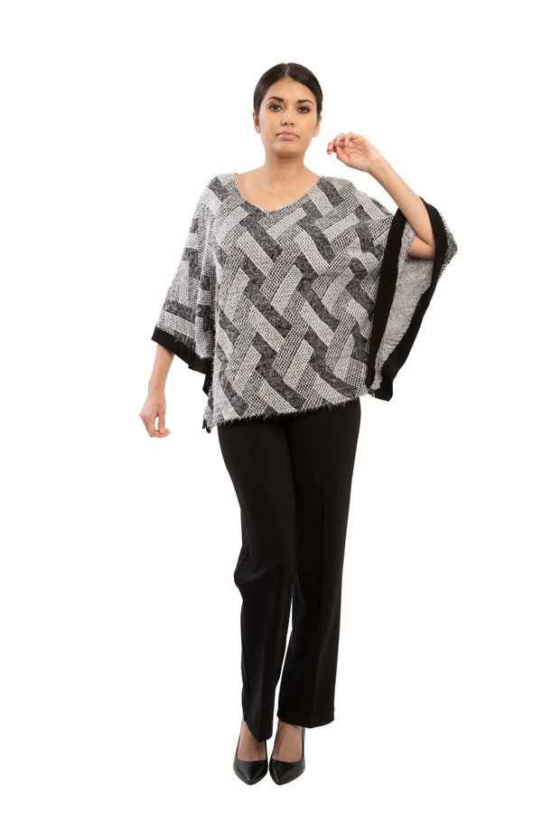 Zoe - 7786 - Hairy Poncho Top