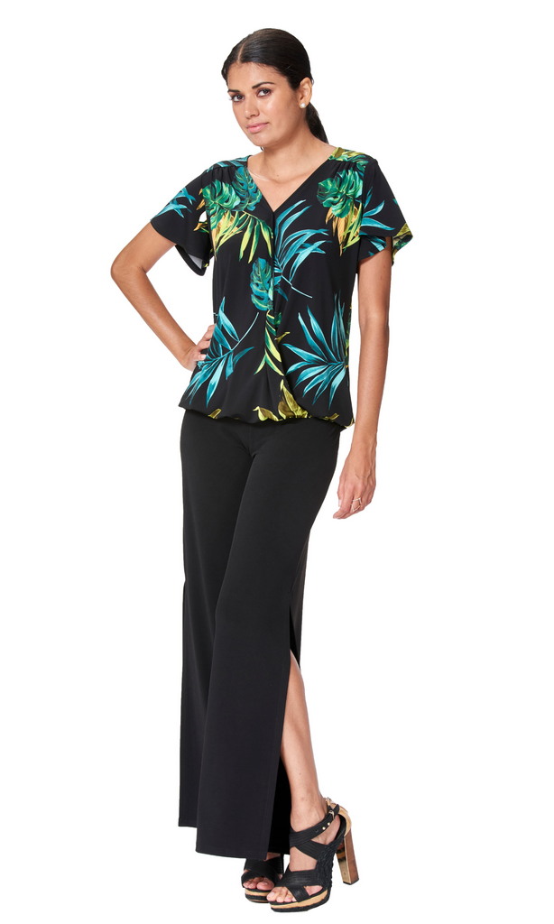 Jungle - 7503 - Short Flutter Sleeve Top