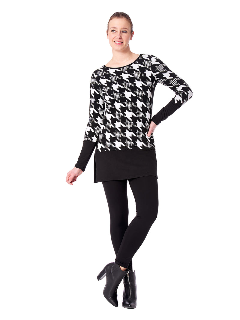 Oxford Houndstooth Tunic