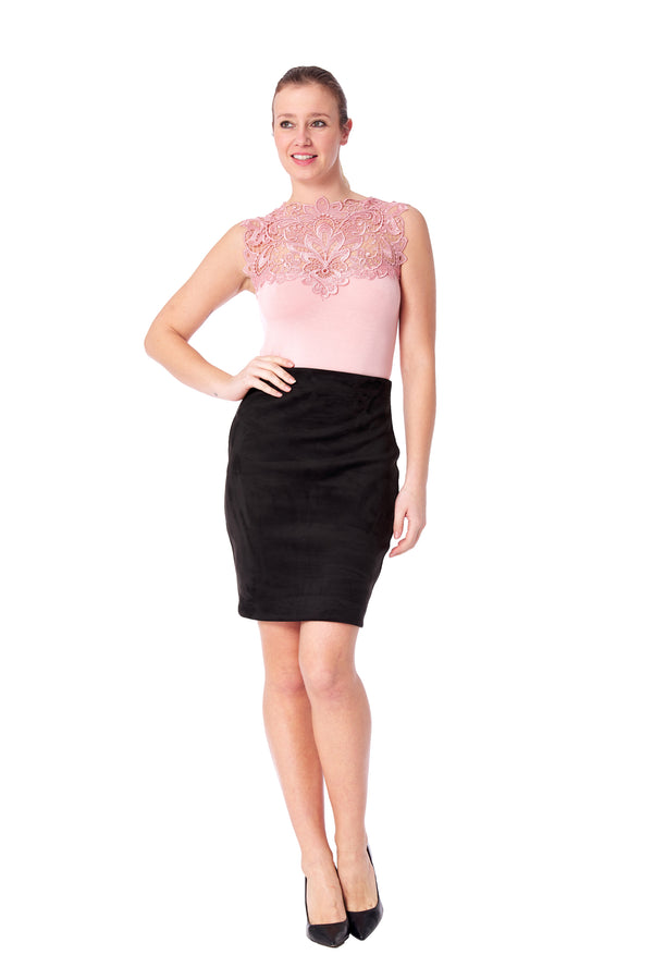 Laredo - 3301 - Faux Suede Skirt
