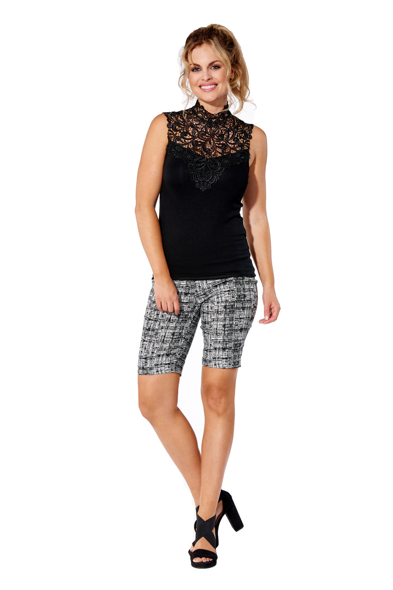 Graphic - 4305 - Printed Pull-On Bermuda