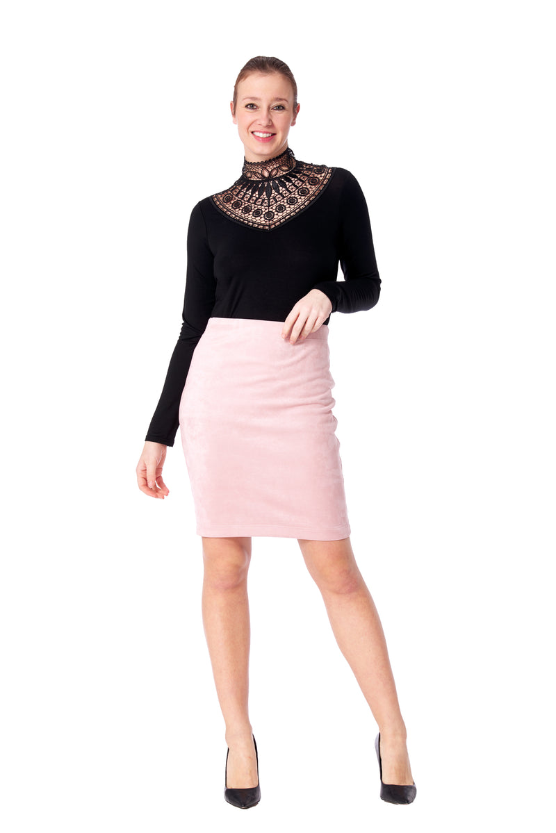 Laredo  Faux Suede Skirt