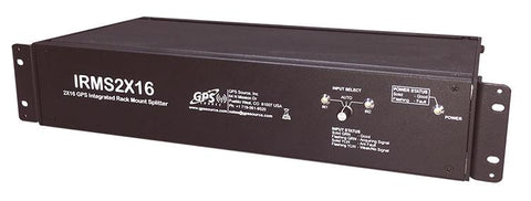GPS Integrated Rack Mount Splitter 2 x 16 outputs - IRMS216