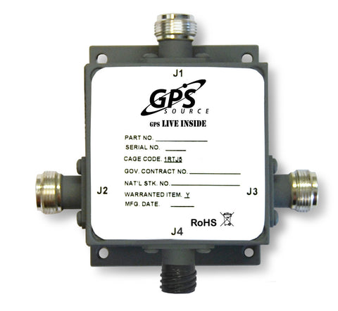 Military Qualified 1 x 2 GPS Splitter - MS12