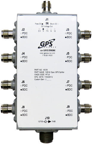 Military Qualified 1 x 8 GPS Splitter - MS18