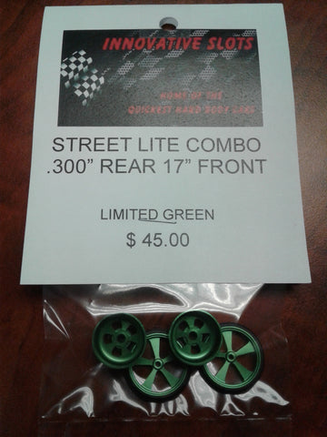 "STREET LITE COMBO .300"" REAR 17"" FRONT LIMITED GREEN"