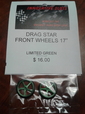 "DRAG STAR FRONT WHEELS 17"" LIMITED GREEN"