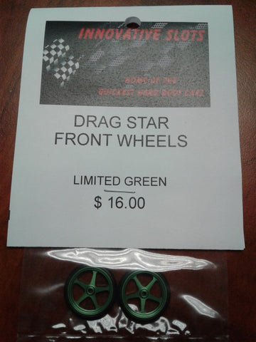 DRAG STAR FRONT WHEELS LIMITED GREEN