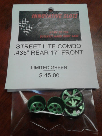 "STREET LITE COMBO .435"" REAR 17"" FRONT LIMITED GREEN"