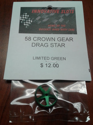 58 CROWN GEAR DRAG STAR LIMITED GREEN