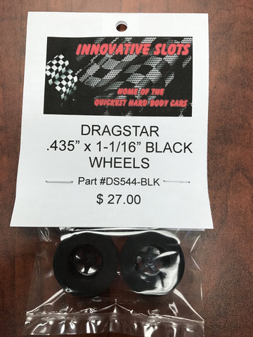 "Dragstar .435"" X 1-1/16"" Wheels DS544-BLk"