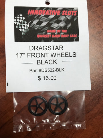 "Dragstar 17"" Front Wheels-DS522-BLK"