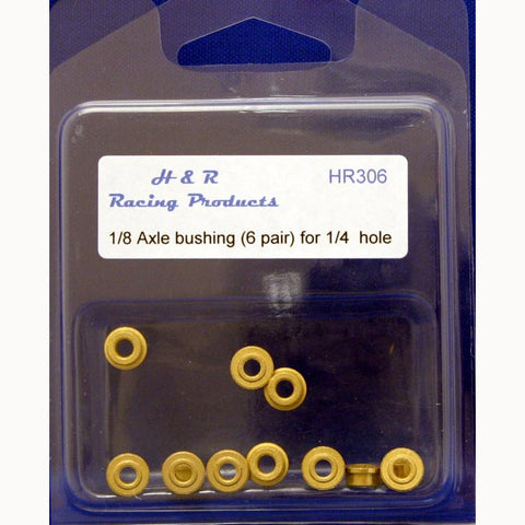 "HR306 - 1 pair of standard 1/8 axle bushings - 1/4"" hole"