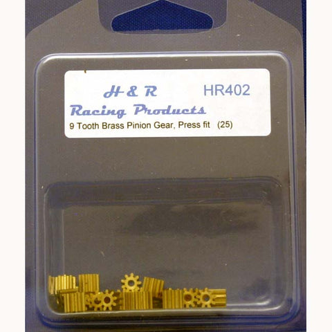 HR402 - 9 tooth brass pinions 48 pitch FAIRGROUNDS