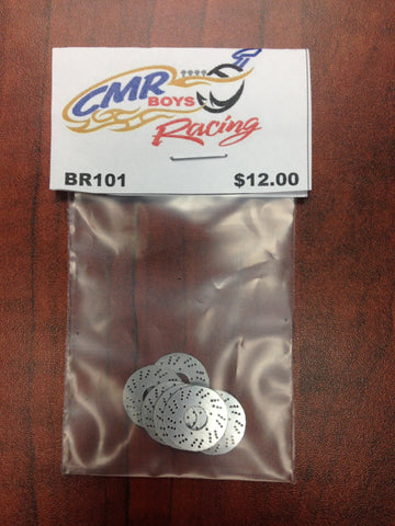 CMR RACING LARGE FRONT ROTORS HOLES BR101