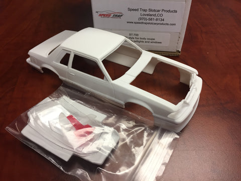 Mustang fox body coupe resin with hood, headlights, taillight, and windows ST-700
