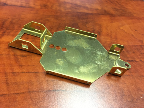 Brass chassis for the AJDLMS dirt late model series 4""