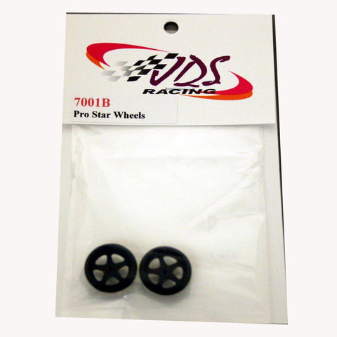 JDS7001B JDS PRO STAR FRONT WHEELS (BLACK) - Innovative Slots