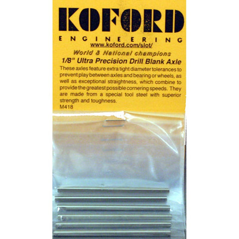 KOFORD 1/8 DRILL BLANK AXLES KOF418