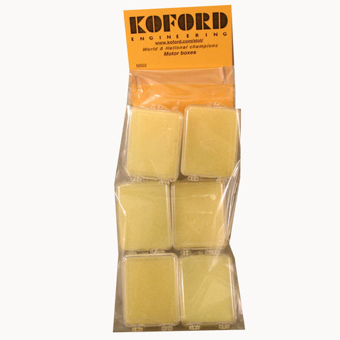 KOF603 - Motor Boxes with 2 piece yellow foam - card of 6 - Innovative Slots