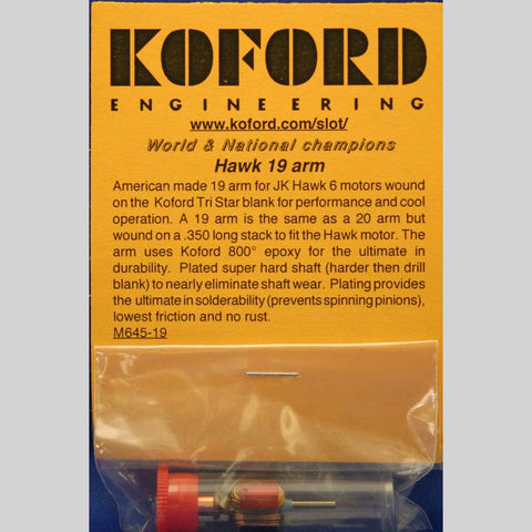 KOF645-19 KOFORD DRAG 19 ARM FOR HAWK 6