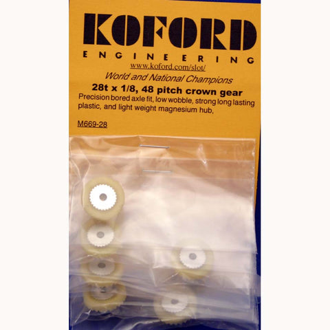KOF669-28 - Precision low wobble 28 tooth x 1/8 crown gears.
