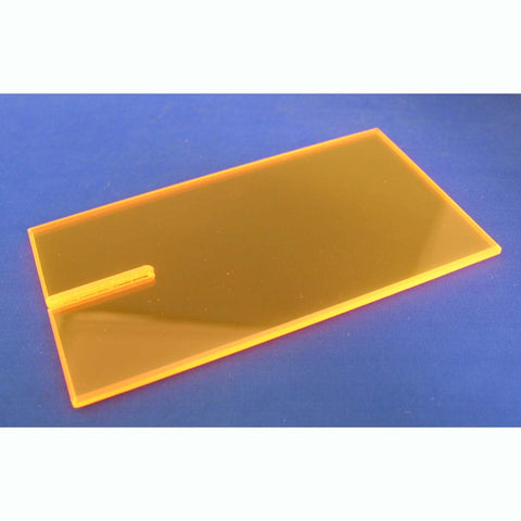 :LKY1006FO LUCKY BOB ACRYLIC BLOCK- FLUORESCENT ORANGE