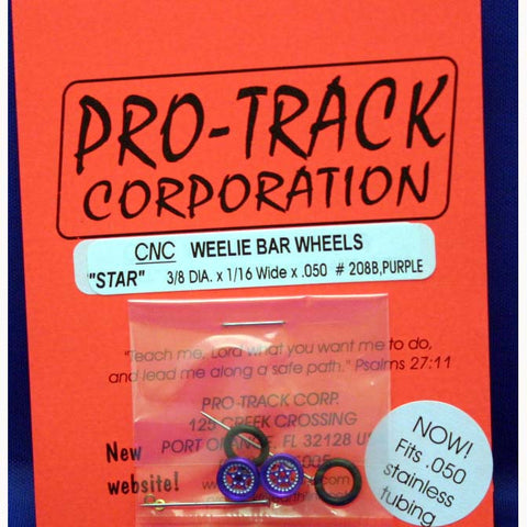 PROTRACK WHEELIE WHEELS STAR, PURPLE PTM208B,P - Innovative Slots