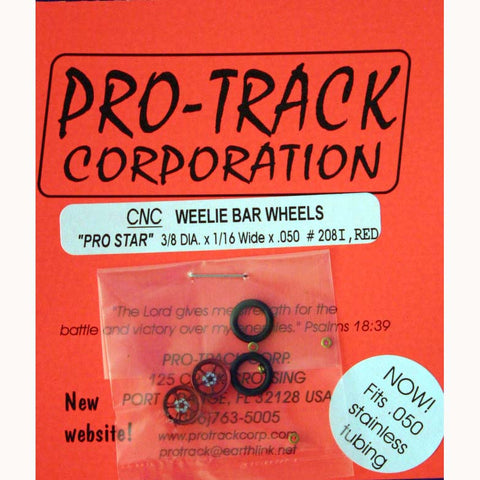 PROTRACK WHEELIE WHEELS PRO STAR RED PTM208I,R - Innovative Slots