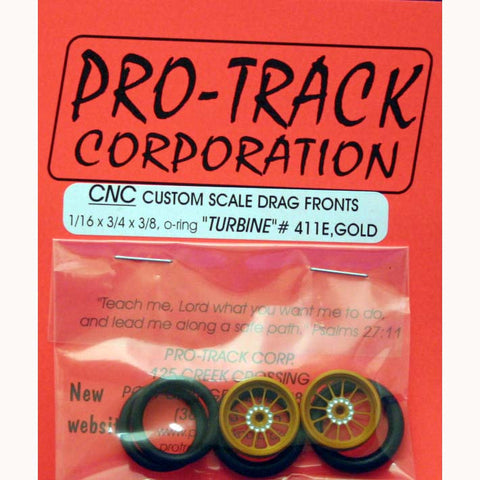PTM411E,G PROTRACK FRONTS 1/16X3/4 TURBINE GOLD - Innovative Slots