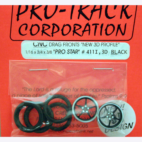 PROTRACK 1/16 X 3/4 PRO STAR 3D BLACK FRONTS PTM411I,3DBL