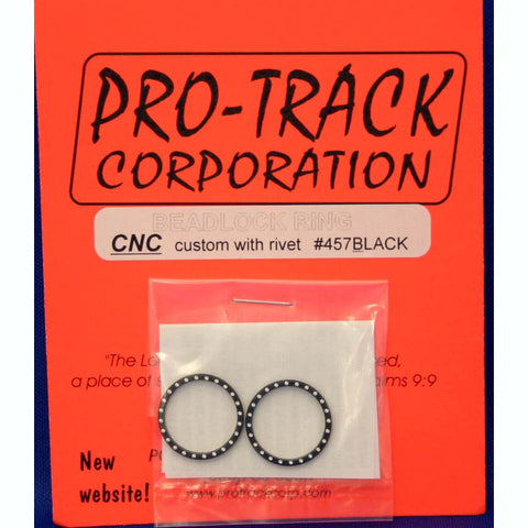 PTM457BLACK PROTRACK BEADLOCK RING BLACK, W/RIVETS - Innovative Slots