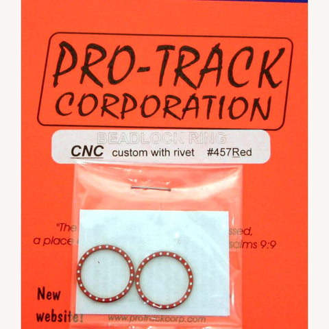 PTM457R PROTRACK BEADLOCK RING RED, W/RIVET - Innovative Slots