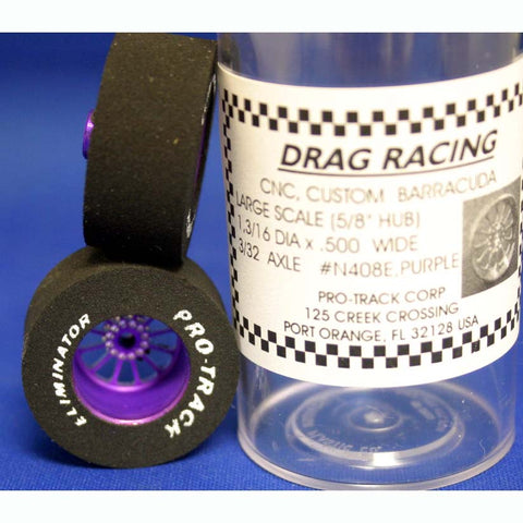 PROTRACK CNC DRAG REARS, TURBING PURPLE, 3/32x1,3/16X.500 PTMN408E,P