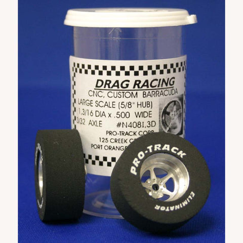 "PTMN408I,3D - Drag Rear Tires in 3D - For 3/32 axle, they are 1 3/16"" in diameter and .535 wide"