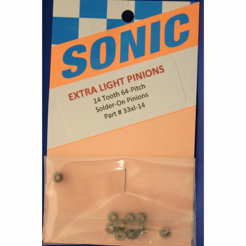 SONIC 14T 64P SOLDER-ON PINIONS -SON33XL-14 - Innovative Slots