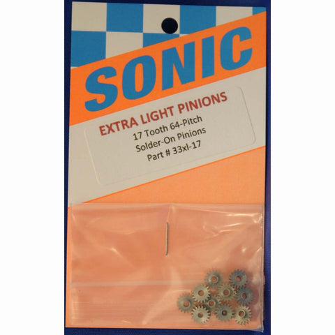 SONIC 17T 64P SOLDER-ON PINIONS -SON33XL-17 - Innovative Slots