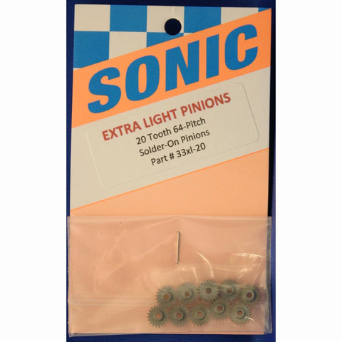 SONIC 20T 64P SOLDER-ON PINIONS -SON33XL-20 - Innovative Slots