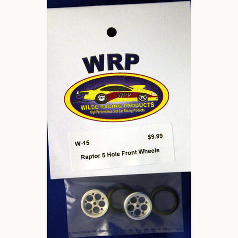 "WRPW-15 - Drag Front Tires - Raptor style 3/4"" in diameter."