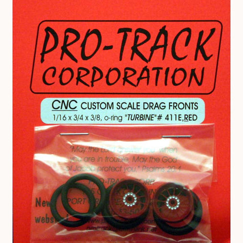 PTM411E,R PROTRACK FRONTS 1/16 X 3/4 TURBINE RED - Innovative Slots