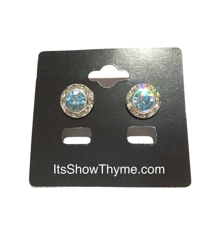 Earrings Aquamarine - Its  Show Thyme