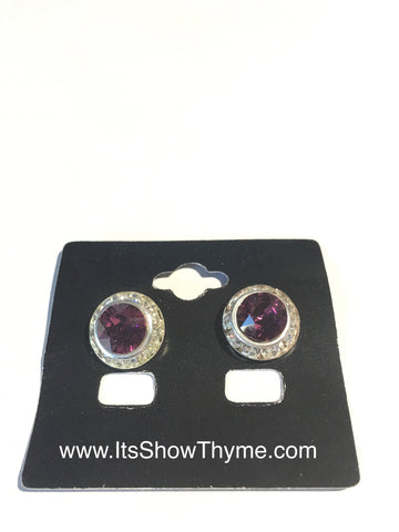 Earrings Amethyst - Its  Show Thyme