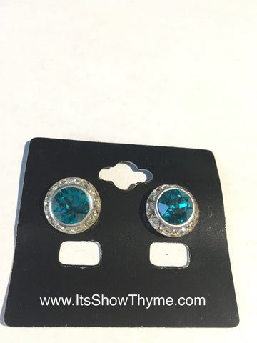 Earrings Blue Zircon - Its  Show Thyme