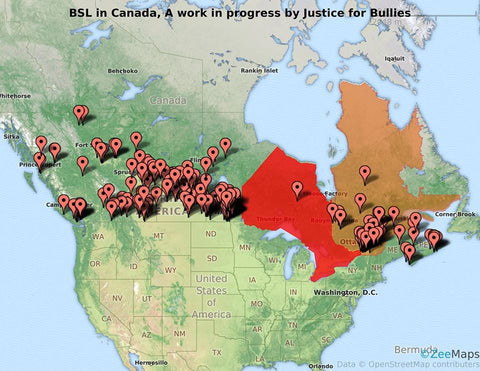 BSL MAP Justice for Bullies